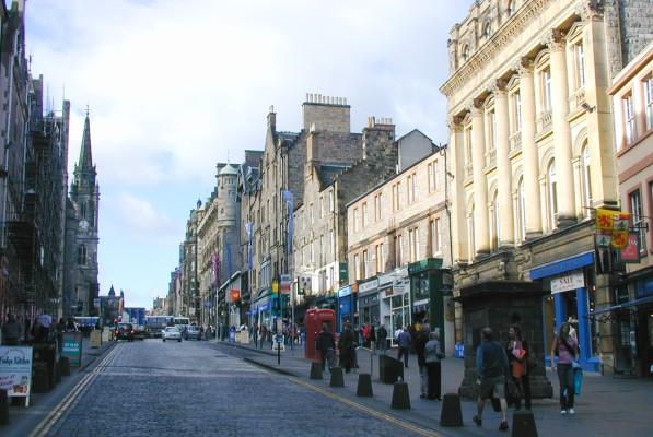 Edinburgh High Street At Highst High Street Shops And High