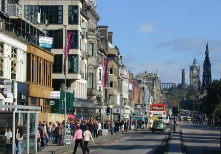 Edinburgh Pictures High St High Street Shops And High
